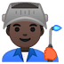 👨🏿‍🏭 man factory worker: dark skin tone Emoji on Google Platform
