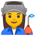 👩‍🏭 woman factory worker Emoji on Google Platform