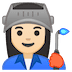 👩🏻‍🏭 woman factory worker: light skin tone Emoji on Google Platform
