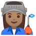 👩🏽‍🏭 v Emoji on Google Platform