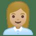 👩🏼💼 woman office worker: medium-light skin tone Emoji on Google Platform
