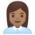 👩🏽‍💼 woman office worker: medium skin tone Emoji on Google Platform