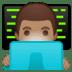 👨🏽💻 man technologist: medium skin tone Emoji on Google Platform