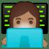 👩🏽💻 woman technologist: medium skin tone Emoji on Google Platform