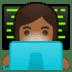 👩🏾💻 woman technologist: medium-dark skin tone Emoji on Google Platform