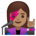 👩🏽‍🎤 Medium Skin Tone Female Singer Emoji on Google Platform