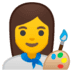 👩‍🎨 woman artist Emoji on Google Platform