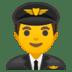 👨✈️ man pilot Emoji on Google Platform