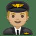 👨🏼✈️ man pilot: medium-light skin tone Emoji on Google Platform