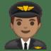 👨🏽✈️ man pilot: medium skin tone Emoji on Google Platform