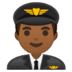 👨🏾‍✈️ man pilot: medium-dark skin tone Emoji on Google Platform