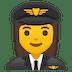 👩✈️ woman pilot Emoji on Google Platform