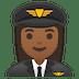 👩🏾✈️ woman pilot: medium-dark skin tone Emoji on Google Platform