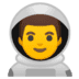 👨‍🚀 man astronaut Emoji on Google Platform