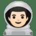 👨🏻🚀 man astronaut: light skin tone Emoji on Google Platform