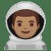 👨🏽🚀 man astronaut: medium skin tone Emoji on Google Platform