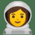 👩🚀 woman astronaut Emoji on Google Platform