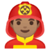 👨🏽‍🚒 man firefighter: medium skin tone Emoji on Google Platform