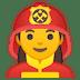 👩🚒 woman firefighter Emoji on Google Platform