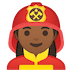 👩🏾‍🚒 Medium Dark Skin Tone Female Firefighter Emoji on Google Platform