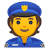 👮 police officer Emoji on Google Platform