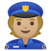 👮🏼 police officer: medium-light skin tone Emoji on Google Platform
