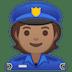 👮🏽 police officer: medium skin tone Emoji on Google Platform