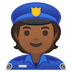 👮🏾 police officer: medium-dark skin tone Emoji on Google Platform