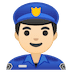 👮🏻‍♂️ man police officer: light skin tone Emoji on Google Platform