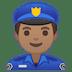 👮🏽♂️ man police officer: medium skin tone Emoji on Google Platform