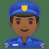 👮🏾♂️ man police officer: medium-dark skin tone Emoji on Google Platform