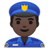 👮🏿‍♂️ man police officer: dark skin tone Emoji on Google Platform