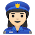 👮🏻‍♀️ woman police officer: light skin tone Emoji on Google Platform