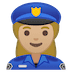 👮🏼‍♀️ woman police officer: medium-light skin tone Emoji on Google Platform