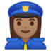 👮🏽‍♀️ woman police officer: medium skin tone Emoji on Google Platform