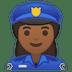 👮🏾♀️ woman police officer: medium-dark skin tone Emoji on Google Platform
