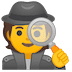 🕵️ detective Emoji on Google Platform