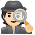 🕵🏻 Light Skin Tone Detective Emoji on Google Platform