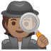 🕵🏽 detective: medium skin tone Emoji on Google Platform