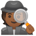 🕵🏾 detective: medium-dark skin tone Emoji on Google Platform