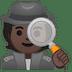🕵🏿 detective: dark skin tone Emoji on Google Platform