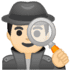 🕵🏻‍♂️ man detective: light skin tone Emoji on Google Platform