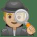 🕵🏼♂️ Medium Light Skin Tone Male Detective Emoji on Google Platform