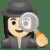 🕵🏻♀️ woman detective: light skin tone Emoji on Google Platform