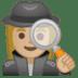🕵🏼♀️ woman detective: medium-light skin tone Emoji on Google Platform