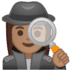 🕵🏽‍♀️ woman detective: medium skin tone Emoji on Google Platform