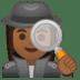 🕵🏾♀️ woman detective: medium-dark skin tone Emoji on Google Platform