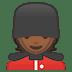 💂🏾 guard: medium-dark skin tone Emoji on Google Platform