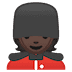 💂🏿 guard: dark skin tone Emoji on Google Platform