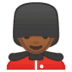 💂🏾‍♂️ man guard: medium-dark skin tone Emoji on Google Platform